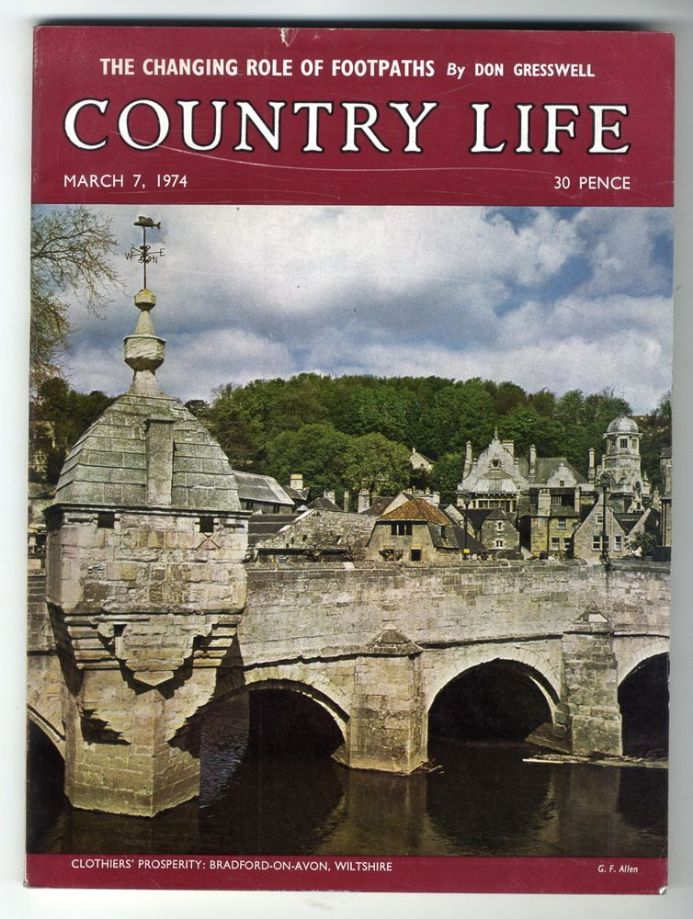 1974 COUNTRY LIFE MAGAZINE 7 March Bradford on Avon NEWBURGH PRIORY Fife Hounds
